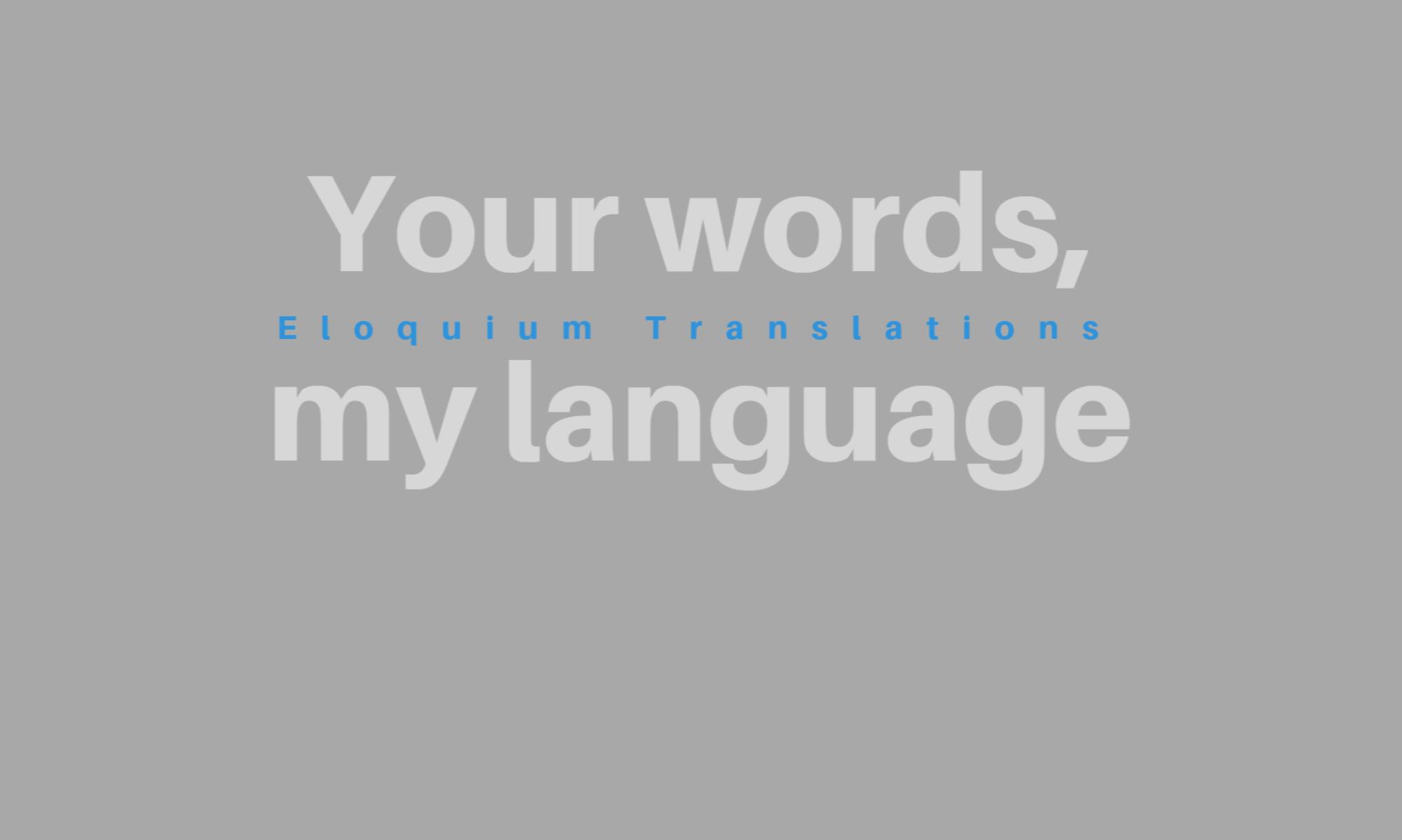 Eloquium Translations